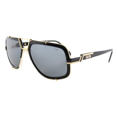 5a9da3d045ab Cazal Cazal 656 001SG Legends Vintage Black And Gold Plastic Aviator Grey  Lens Sunglasses