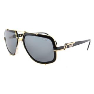 Cazal Cazal 656 001SG Legends Vintage Black And Gold Plastic Aviator Grey Lens Sunglasses
