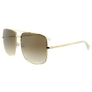 Celine CL 4180 J5G XY Gold Metal Aviator Brown Gradient Lens Sunglasses