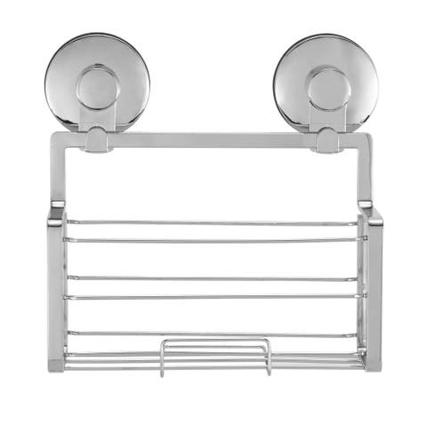 Everloc Solutions Stainless Steel Suction Cup Shower Caddy - N/A