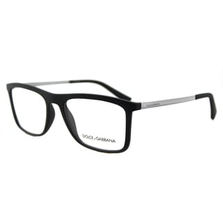 Dolce & Gabbana DG 5023 2805 Black Rubber and Plastic 54-millimeter Rectangle Eyeglasses
