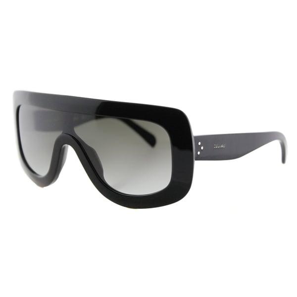 5b40dfd9e35b Shop Celine CL 41377 807 Black Plastic Grey Gradient Lens Sunglasses ...