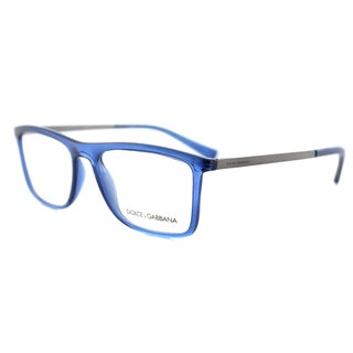 Dolce & Gabbana DG 5023 3067 Transparent Blue Plastic 54-milliimeter Rectangle Eyeglasses
