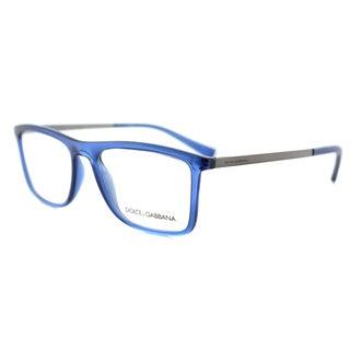 Dolce & Gabbana DG 5023 3067 Transparent Blue Plastic 54-milliimeter Rectangle Eyeglasses