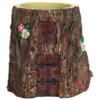 Exhart Resin 7-inch Tree Stump Planter