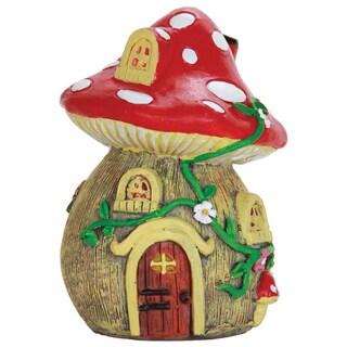 Exhart 5-inch Mushroom House Statue