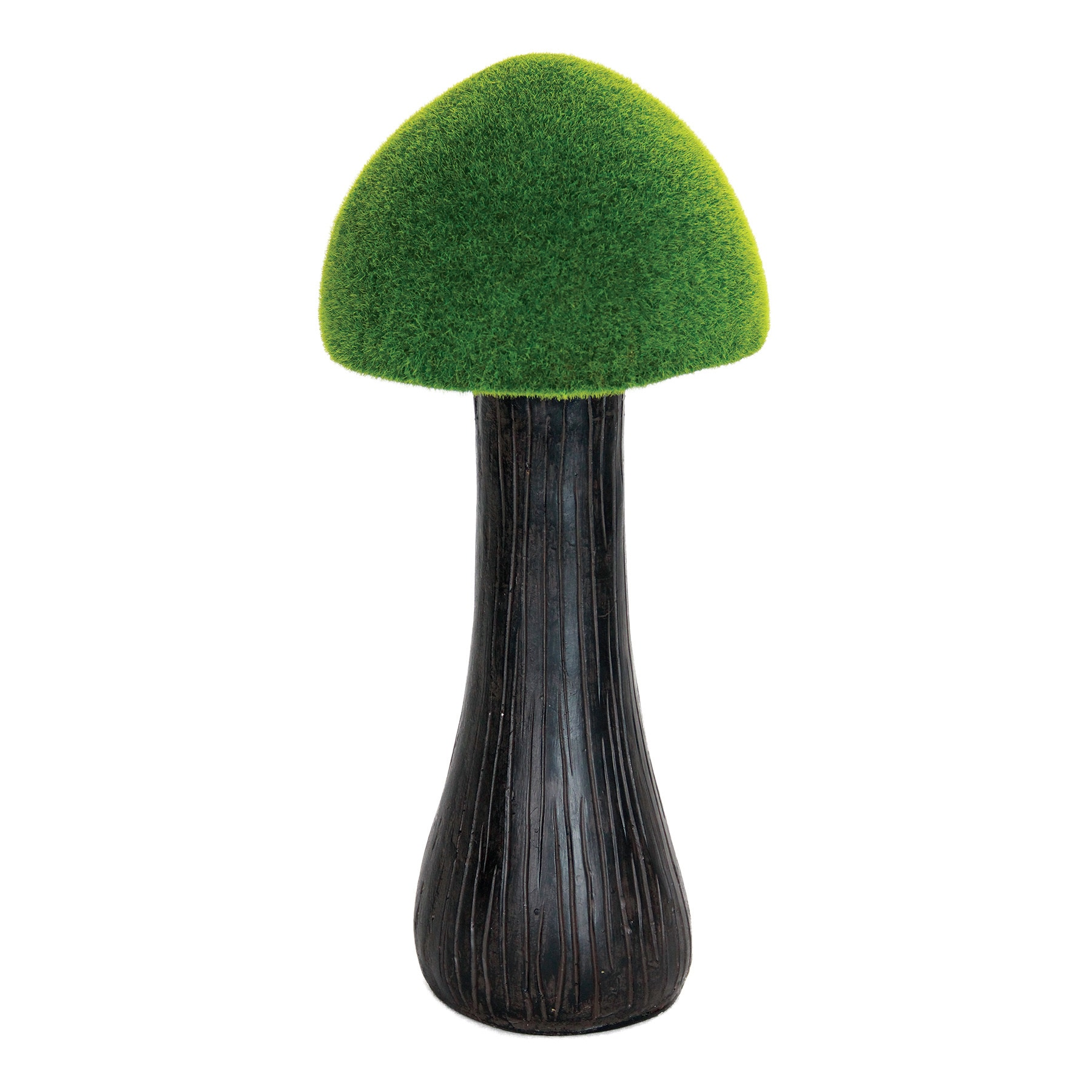 Exhart 18-inch Moss-coated Mushroom (Green) (Resin), Outd...