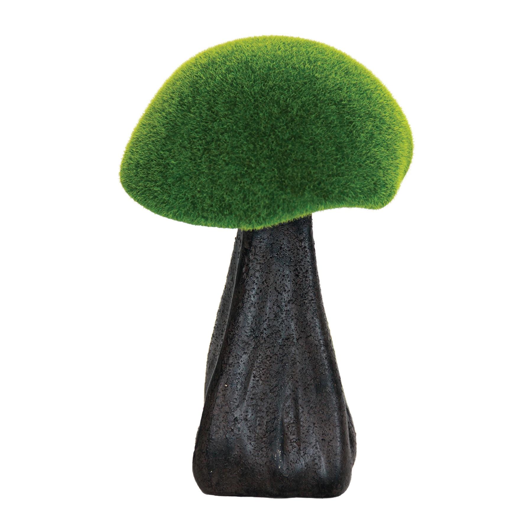Exhart 10-inch Moss-coated Mushroom Garden Statue (Green)...
