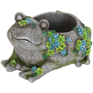 Resin Frog Stone-style Planter