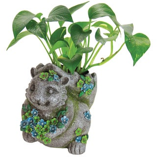 Multicolored Resin Squirrel Planter