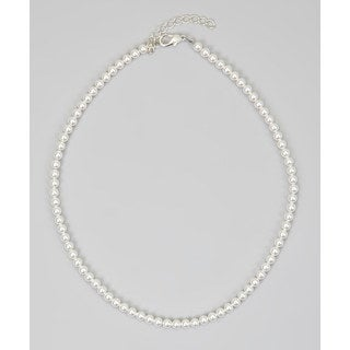 Crystal Dream Luxury White Pearl Infant Girl Sterling Silver Necklace