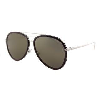 Fendi FF 0155 V52 Funky Angle Violet Palladium Metal Aviator Gold Mirror Lens Sunglasses