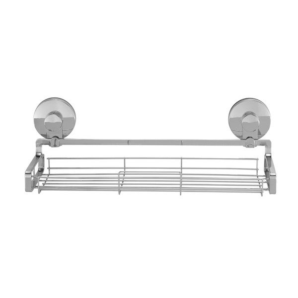 Shop Everloc Solutions Large Stainless Steel Suction Cup Bathroom Shelf    Free Shipping On Orders Over $45   Overstock   12362146