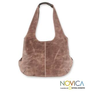 Handcrafted Leather 'Urban Honey' Large Hobo Handbag (Mexico) (As Is Item)|https://ak1.ostkcdn.com/images/products/12362150/P91003942.jpg?impolicy=medium