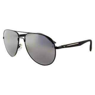 Puma PU 0007S 007 Flexstyle V3 Usain Bolt Black Metal Aviator Gold Mirror Lens Sunglasses