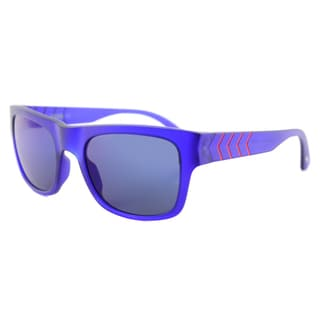 Puma PU 0038S 007 Ignite 600 Matte Blue Plastic Rectangle Blue Mirror Lens Sunglasses