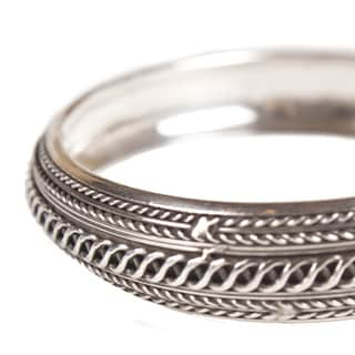 Silver Indonesian Handmade Bangle (Indonesia)