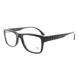 Puma Black Plastic Rectangle Eyeglasses