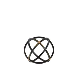 Urban Trends Collection Black Metal Dyson Sphere Orb Figurine