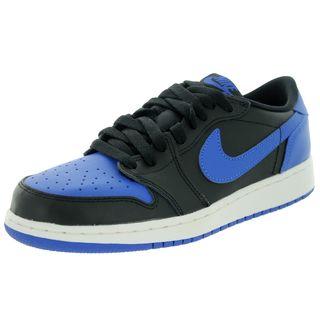 Nike Kids' Air Jordan 1 Retro Black/Varsity Royal/Sail Low Basketball Shoe