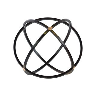 Black Metal Dyson Sphere Orb