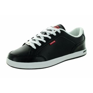 Levi's Kids' Aart Core Black/White Leather Casual Shoe