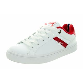 Levi's Kids' Henry Core White and Red Casual Shoes