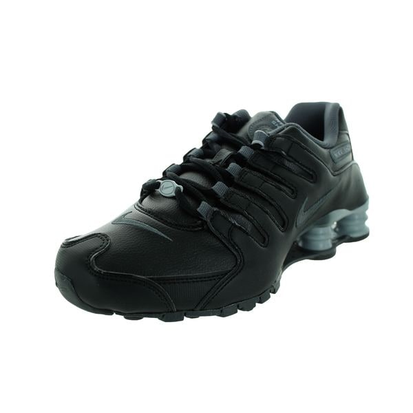 b2b005f23e76 Shop Nike Women s Shox NZ EU Black Leather Running Shoes - Free ...