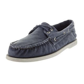 Sperry Men's Authentic Navy Blue Canvas Top-sider Boat Shoe