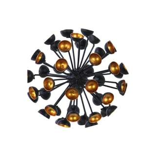 Urban Trends Collection Black Metal Semi-Circle Tip Ornamental Sea Urchin Sculpture