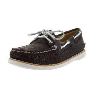 Sperry Women's Top-sider Gold Authentic Original 2-eye Black Boat Shoe
