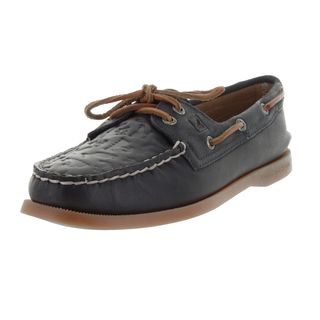 Sperry Women's Navy Blue Leather Top-sider Boat Shoe