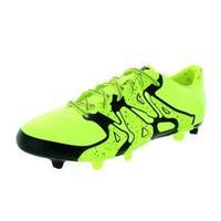 Adidas Men's X 15.3 Fluorescent Yellow Soccer Cleats