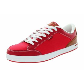 Levi's Men's Aart Red/Tan Canvas Casual Shoes