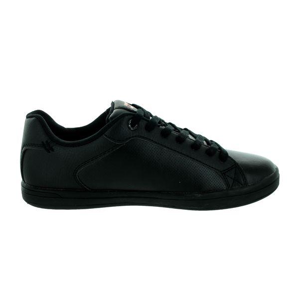 levi's black leather shoes