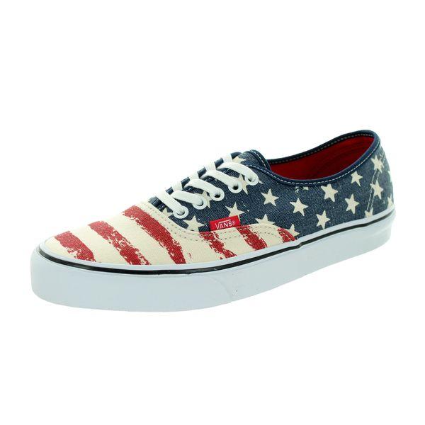 566d7d2a9c35 Shop Vans Unisex Authentic Americana Dress Blues Skate Shoe - Free ...