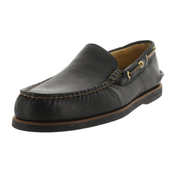 Shop Sperry Top-Sider Men s Gold Black Authentic Casual Shoe - Free ... 86525a9edbed