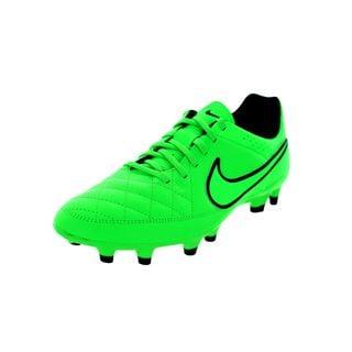 Nike Men's Tiempo Genio FG Green Strike/Black Leather Soccer Cleats