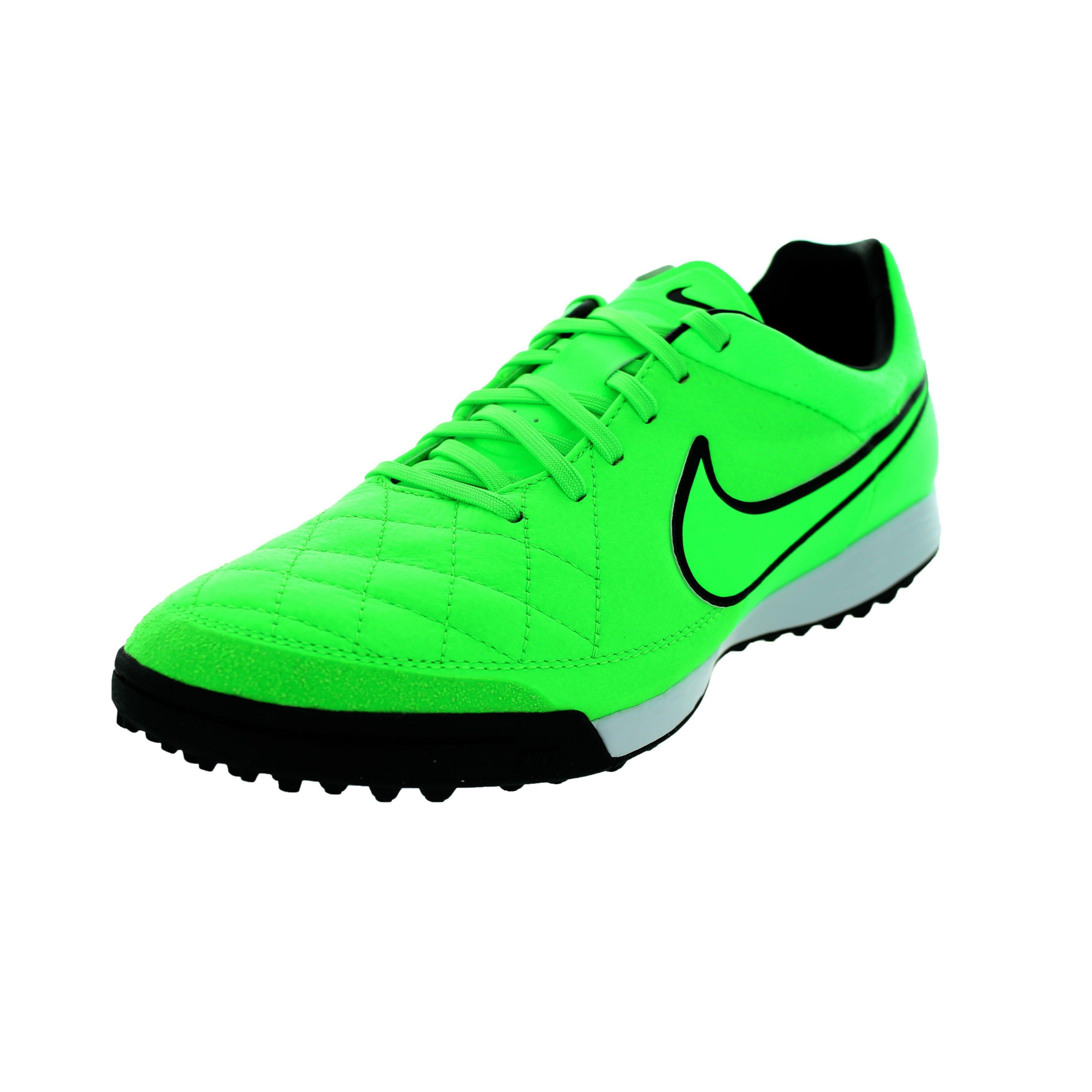 Nike Men's Tiempo Legacy TF Green Strike/Black Turf Socce...