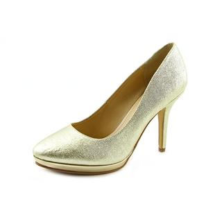 Marc Fisher Women's Magola 6 Goldtone Textile Dress Shoes