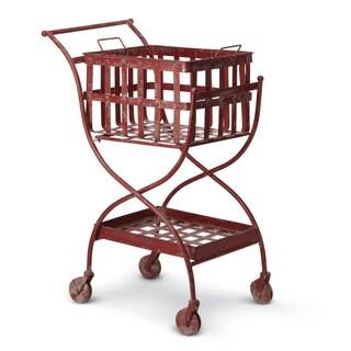 Red Lattice Shopping Cart