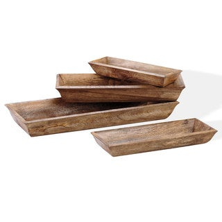 Wooden Lodge Trays (Set of 4)