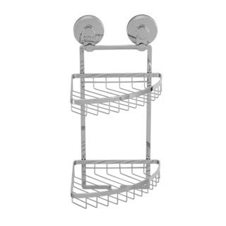 Everloc Solutions Stainless Steel Suction Cup Double Corner Basket