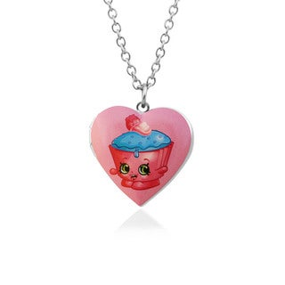Shopkins Chidren's Cupcake Chic Heart Locket Pendantwith 18-inch Chain