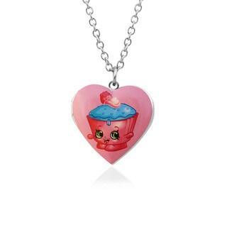 Shopkins Chidren's Cupcake Chic Heart Locket Pendantwith 18-inch Chain