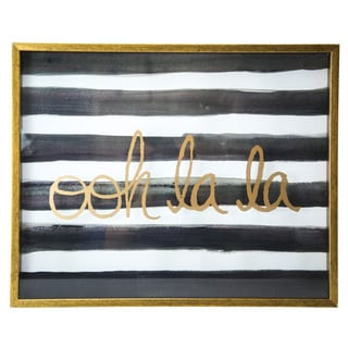 16-inch x 20-inch Ooh La La Metallic Shadowbox Art