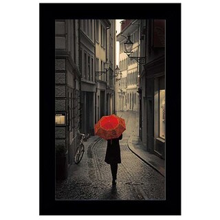 Stefano Corso - Red Rain Framed Art