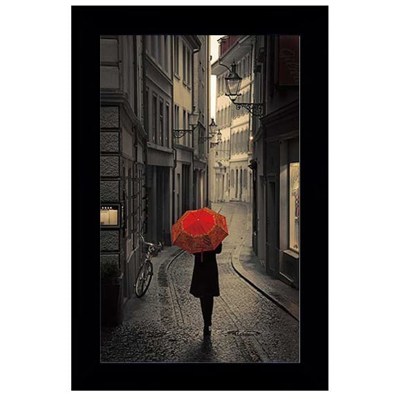Shop Stefano Corso - Red Rain Framed Art - Free Shipping Today ...