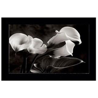 Well known Sondra Wampler 'Calla Lilies No. 1' Framed Wall Art Print - Free  ED27