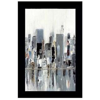 Aziz Kadmiri - City Bridges Framed Art